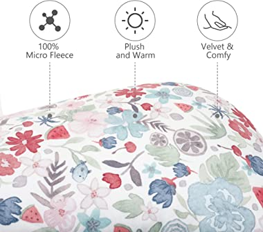 TILLYOU Plush Pregnancy Pillow Cover