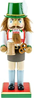 Clever Creations Classic Chubby German Nutcracker Wearing Lederhosen & Holding a Mug - Festive Collectible Decor - Perfect for Shelves and Tables - 100% Wood - 10 inches Tall