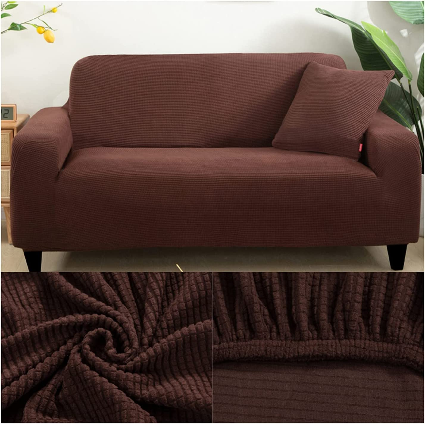 Fixed price for sale XINLEI Couch Max 86% OFF Seat Cover Thick Jacquard Sofa Solid Prin Protector