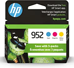 Original HP 952 Cyan, Magenta, Yellow Ink Cartridges (3-pack) | Works with HP OfficeJet 8702, HP OfficeJet Pro 7720, 7740,...