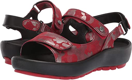 Red Camouflage Nubuck