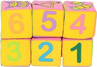 Bloki budowlane z tkaniny dla niemowląt, różne bogate wzory owoce dziecko miękkie klocki budowlane z tkaniny dla niemowlą...
