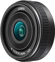 Panasonic LUMIX H-H014A II - Objetivo Focal fija para cámaras de montura M4/3 (Focal 14 mm, F2.5, tamaño filtro 46 mm, lentes asféricas), negro