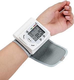 Galapara Pantalla LCD Monitor de presión Medidor de tonómetro automático para Monitor de presión Arterial Digital de muñeca de atención médica para medir la frecuencia de Pulso