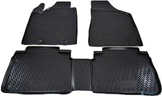 - Schwarz Nadelfilz 4tlg Ös Fußmatten Passend für Nissan Murano 2 Z51 ab 2007