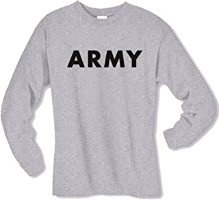 Youth Army Long Sleeve T-Shirt in Gray