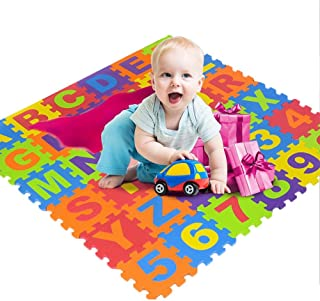 per 36pcs Colorful Foam Play Mat Puzzle Alphabet&Number Crawling Mat for Kids Toddlers