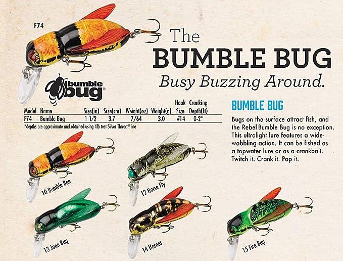 rebel lures bumble bug angelköder (3,8 cm, fire bug): amazon.de: sport &  freizeit  amazon.de