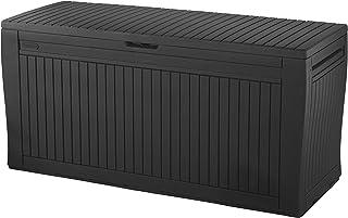 comprar comparacion Keter - Baúl Comfy de resina, 270 L, color grafito, 116,7 x 54,6 x 8,6 cm