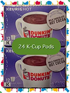 Dunkin Donuts Milk Chocolate Hot Cocoa K-cups - Cocoa for Keurig K-cup Brewers - 24 Count