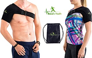 Shoulder Brace Support - for Women and Men - Breathable Neoprene - Stability and Injury Prevention - Shoulder Support for Rotator Cuff Dislocated AC Joint Labrum Tear Shoulder Pain