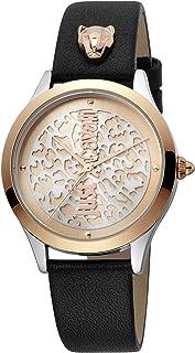 Just Cavalli Animalier Pelle Metal Watch JC1L170L0035 - Quartz Analog for Women in Genuine Leather Strap