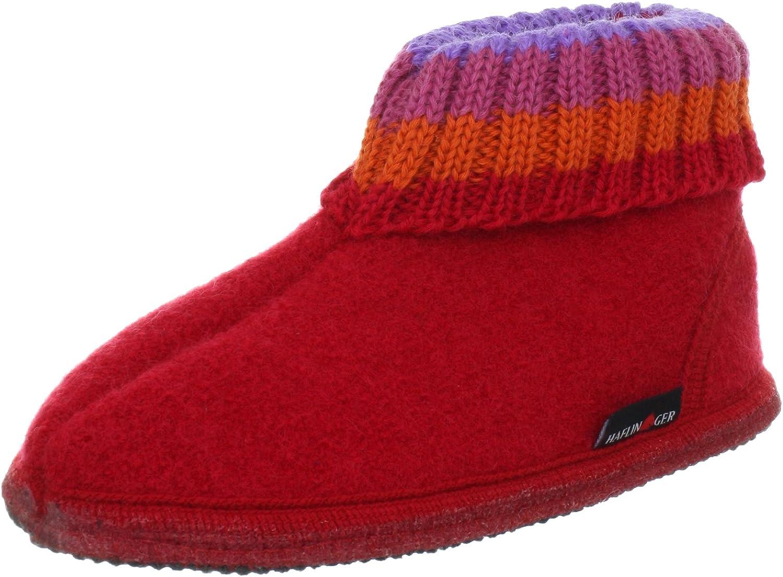 Haflinger Unisex Kids' Hüttenschuh Paul Hi-Top Slippers bluee