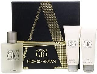 Giorgio Armani 100ml Acqua Di Gio Pour Homme Set For - perfume for men with 75ml Aftershave Balm and 75ml Body Shampoo