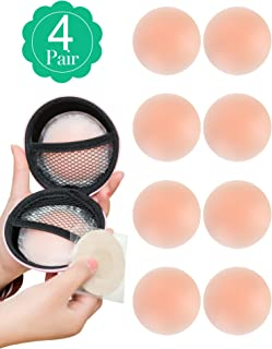Pasties for Women 4 Pairs Nipple Covers Reusable Adhesive Silicone Covers