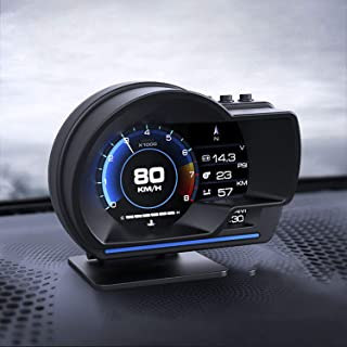 Heads Up Display, iKiKin Heads Up Display for Car HUD Display OBD2 GPS Dual System for All Cars, Shows Speed RPM Voltage A...