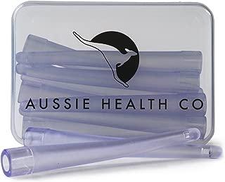 AUSSIE HEALTH CO Enema Bag, Bucket & Bulb Kit Nozzle Tips (Box of 10) - BPA/Phthalates Free, Flexible, Soft and Comfortable PVC