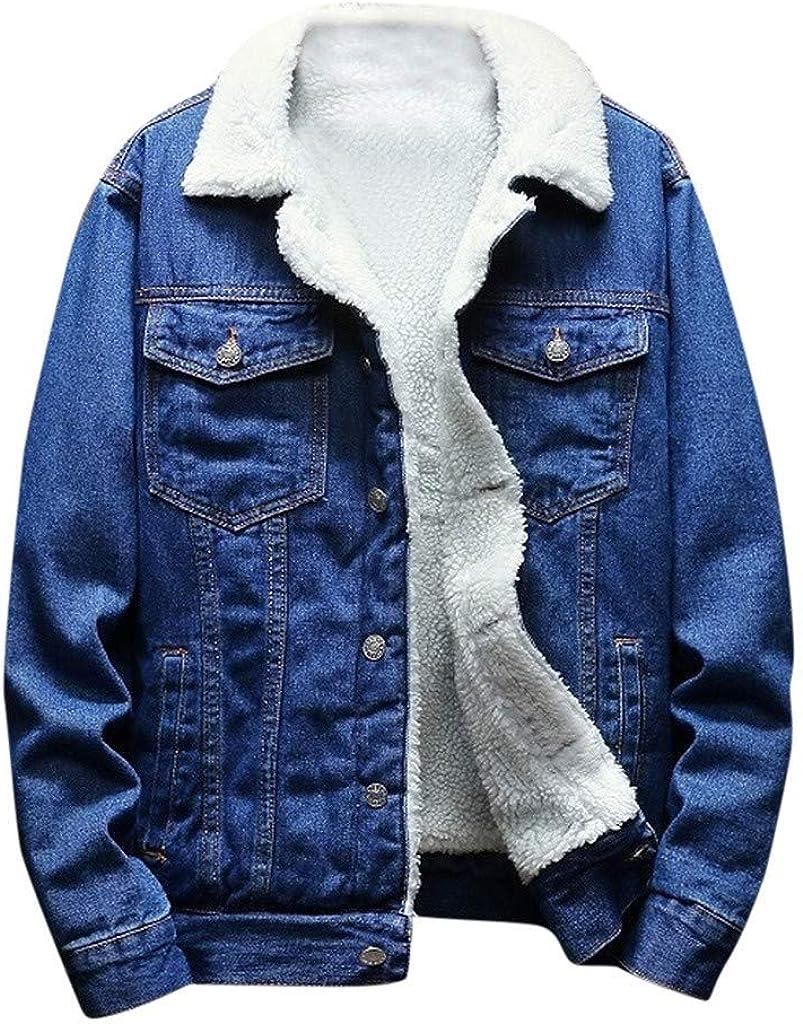 Stoota Men's Latest Arlington Mall Warm Fleece Denim Solid Vintage Direct sale of manufacturer Trend Coat