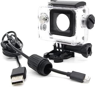 ウェアラブルカメラ汎用式 オートバイ用 防水ハウジングケース 常時給電充電ケーブル同梱 バイク/車アクセサリー LANCERTECH正規品 対応機種:SJCAM SJ4000 DBPOWER EX5000 MUSON C1 WIMIUS Q1 (SJ4000シリーズ防水ケース+充電ケーブル)