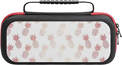 $26 » Pink Golden Pineapple Case Compatible with Switch Case Protective Carry Bag Hard Shell Storage Bag Portable Travel Case fo...