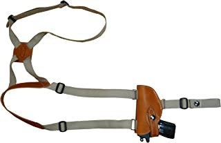 Barsony New Saddle Tan Leather Gun Shoulder Holster for 380 Ultra-Compact 9mm 40 45