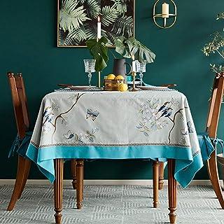 Nappe rectangulaire, tissu anti-brûlure anti-brûlure en toile de viscose adapté à la décoration de restaurant de table bas...