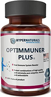 OPTIMMUNER Plus - Immune System Booster – 100% Natural Supplement - Real Improvements, 60 Caps