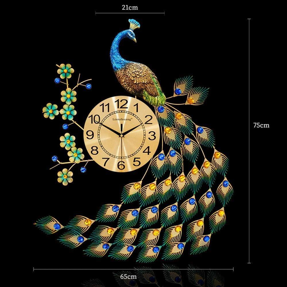 Bidesen Home Deco European Style Peacock Clock Wall Crystal Luxu Brand Cheap Sale Venue Very popular!