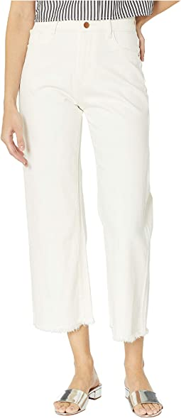 Hepburn High-Rise Wide Leg in Eggshell