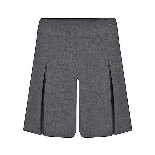 Ex-Store Girls Black School Shorts Fashionable Adjustable Waist 7 Years to 14 Years