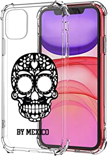 BY MEXICO Carcasa- Funda de TPU Transparente para celular IPhone 11 Calavera Chumbalaca