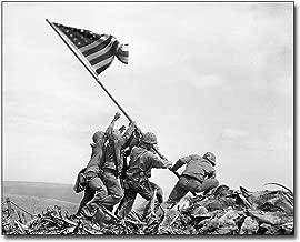 Americans Raising The Flag on Iwo Jima WWII 8x10 Silver Halide Photo Print
