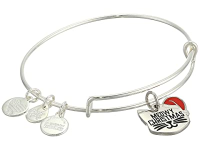 Alex and Ani Color Infusion, Meowy Christmas Bangle Bracelet (Shiny Silver) Bracelet