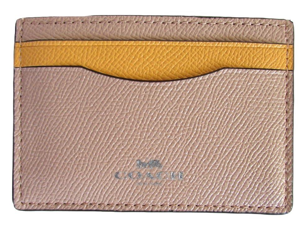 記念日ふさわしいガロン[コーチ] カードケース バイカラー カラーブロック COACH Bicolor Colorblock Card Case F86927 SVM6C SV/Beechwood Banana [並行輸入品]