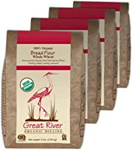 Great River Organic Milling, Bread Flour, Whole Wheat, Organic, 2-Pounds (Pack of 4)