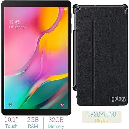 2019 Samsung Galaxy Tab A 10.1-inch Touchscreen (1920x1200) Wi-Fi Tablet Bundle, Exynos 7904A Processor, 2GB RAM, 32GB Memory, BMali-G71 MP2 Graphics, Bluetooth,Tigology Case, Android 9.0 Pie OS