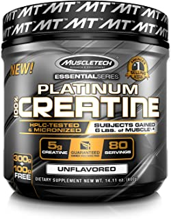 Creatine Monohydrate Powder | MuscleTech Platinum Creatine Powder | Pure Micronized..