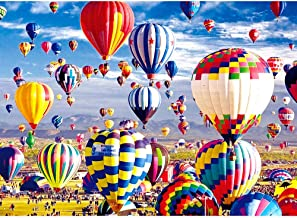 VATOS Puzzles for Adults 1000 Piece | Jigsaw Puzzle | Hot Air Balloon Puzzles | Fire Balloon Puzzle Game-Large Puzzle Game...