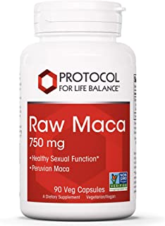 Protocol For Life Balance - Raw Maca 750mg - Supports Healthy Sexual Function, Peruvian Maca, Energy Boost, Helps Stamina ...