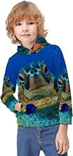 Kid's Novelty Sweater Turtle Under The Sea Hooded Hoodies Unisex Boys Girls Pullover Sweatshirt-