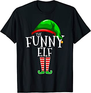 The Funny Elf Group Matching Family Christmas Gift Holiday T-Shirt