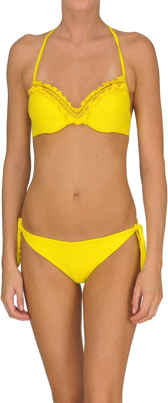 Twin-Set Women's MCGLCST000005023E Yellow Polyamide Bikini