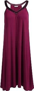 Nightgown Womens Sleeveless Sleepwear V Neck Racerback Sleep Dress S-XXL