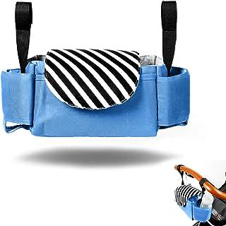 Organizador de cochecito universal con soporte aislante para tazas, bolsa de malla para el hombro, para todos los cochecitos, botellas de transporte,
