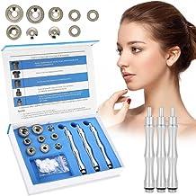 Puntas diamantadas de dermoabrasión, kits de microdermoabrasión de diamante con esponjas de mango de acero inoxidable y sistema de exfoliación de cajas