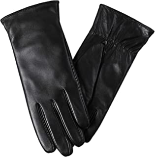 Super-soft Leather Winter Gloves for Women Full-Hand Touchscreen Warm Cashmere Lined Perfect Appearance