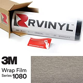 3M 1080 BR230 Brushed Titanium 4in x 6in (Sample Size) Vinyl Vehicle Car Wrap Film Sheet Roll