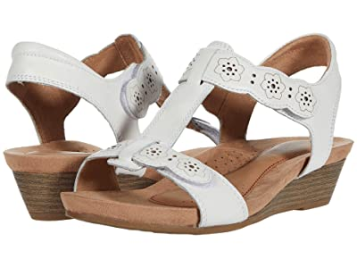 Cobb Hill Hollywood T-Strap (White) Women