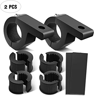 Nilight 90027B 2-Pack (Mini) 2PCS LED Light Horizontal Clamp Mounting Kit Fit on 0.75