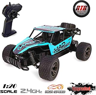 Lazaga RC Cars for Kids, Lazaga Terrain RC Car, 1:20 All Terrain Remote Control High-Speed Telecar, Off Road 2.4Ghz 2WD Remote Control Monster Truck, for Kids and Adults